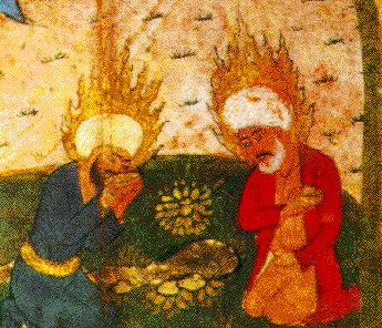 Хидр и Илия. Персидская миниатюра