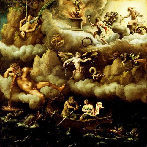 Джулио Романо. Аллегория бессмертия. Ок. 1540.