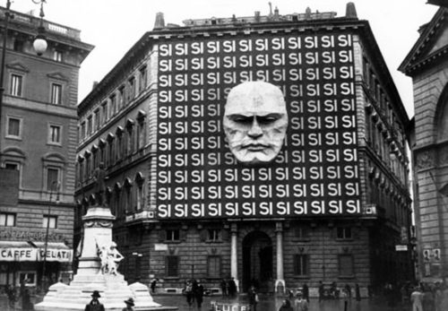 Mussolini's headquarters, 1934