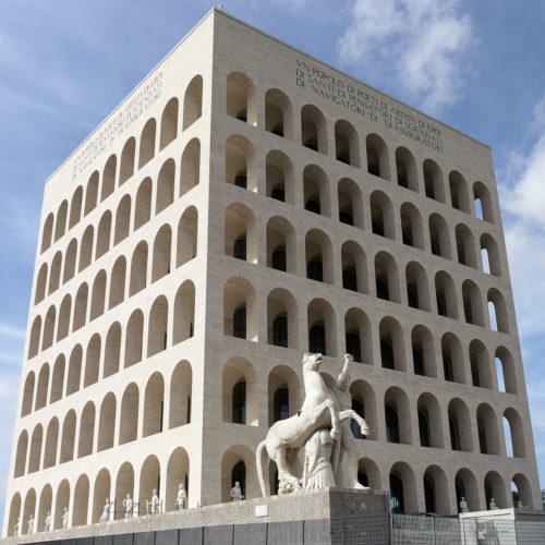 Квадратный Колизей в Риме, годы постройки 1938-1940