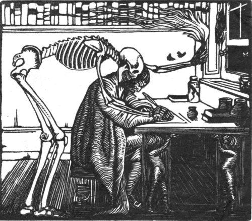 Гравюра из кейнсовского издания Брауна, 1910.
