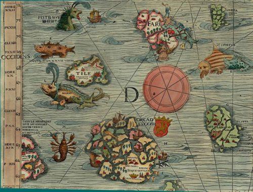 Carta Marina, 1539, by Olaus Magnus.